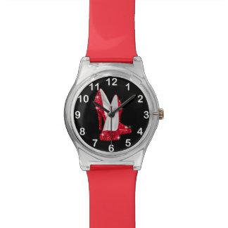 Red Glitter Glamour high heel shoe Watch