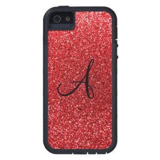 Red glitter monogram iPhone 5 case