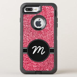 Red Glitter Monogram OtterBox Defender iPhone 8 Plus/7 Plus Case