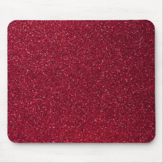 Red Glitter Mouse Pad