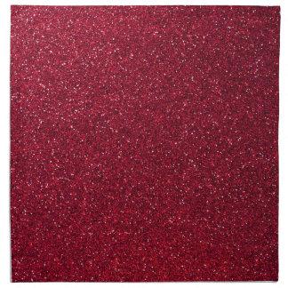 Red Glitter Napkin
