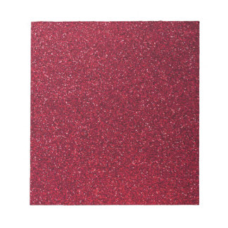 Red Glitter Notepad