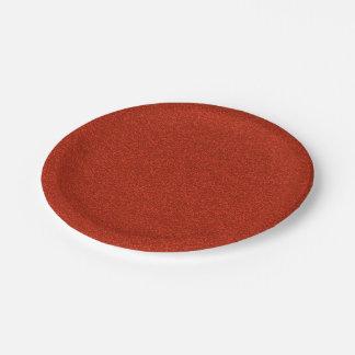 Red Glitter Paper Plate