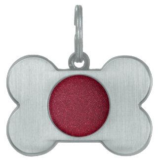 Red Glitter Pet ID Tag