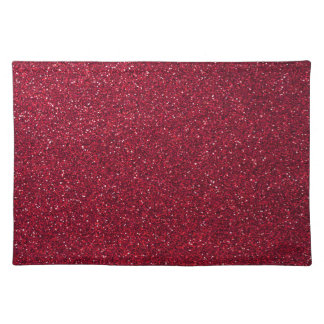 Red Glitter Placemat