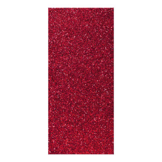 Red Glitter Rack Card