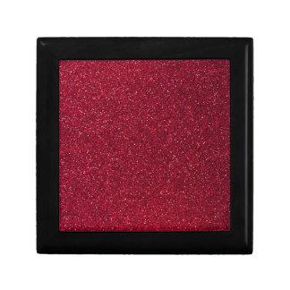 Red Glitter Small Square Gift Box