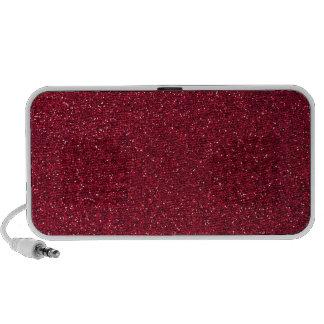 Red Glitter Portable Speakers