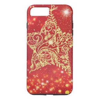 Red Glitter Star Festival iPhone 7 Plus Case