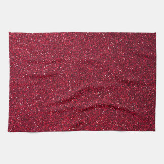 Red Glitter Tea Towel