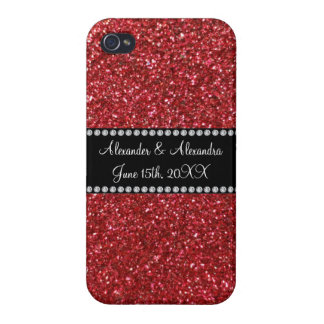 Red glitter wedding favors covers for iPhone 4
