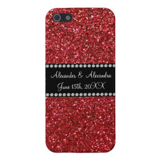 Red glitter wedding favors covers for iPhone 5