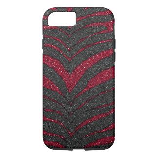 Red Glitter Zebra iPhone 8/7 Case