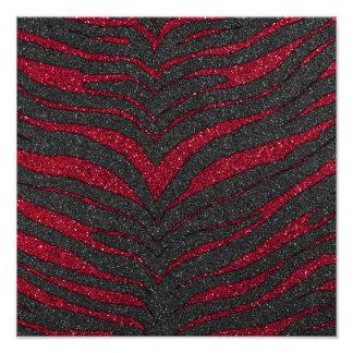 Red Glitter Zebra Print Photo