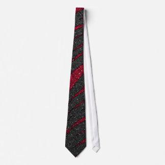 Red Glitter Zebra Print Tie