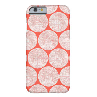 Red Global Maps Phone Case