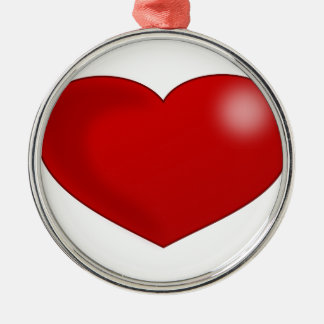 Red Glossy Valentine Heart Ornament