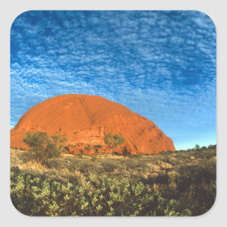 Red Glow of the Famous Ayers Rock in the Outback Square Sticker