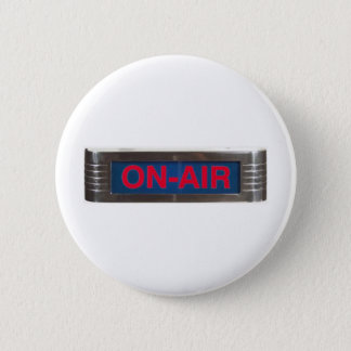 Red Glow On-Air Light 6 Cm Round Badge