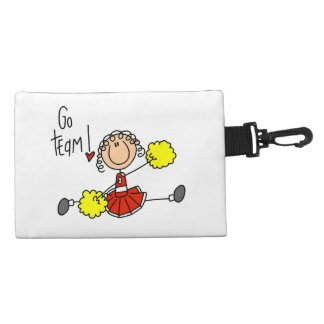 Red Go Team Cheerleader Accessory Bags