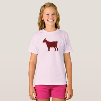 Red Goat Farm Animal Watercolor T-Shirt