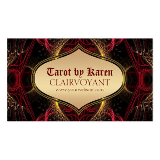 Red Goddess Temple Tarot Business Cards