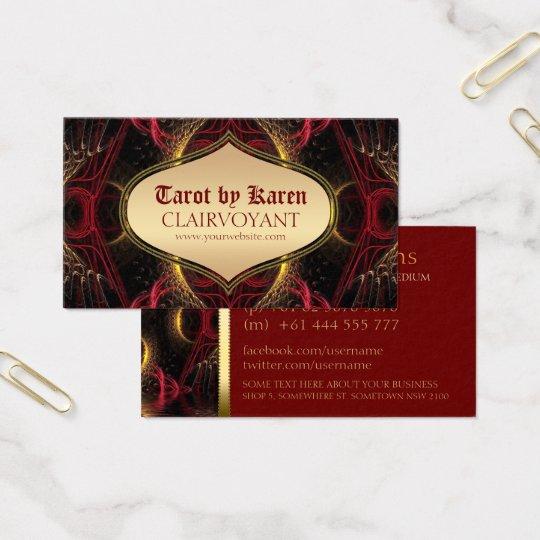 Red Goddess Temple Tarot Business Cards