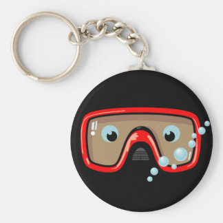Red Goggles Basic Round Button Key Ring