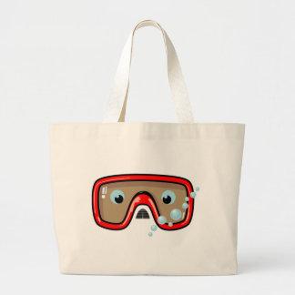 Red Goggles Jumbo Tote Bag