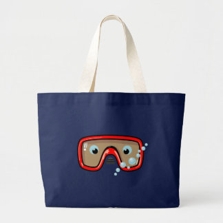 Red Goggles Large Tote Bag