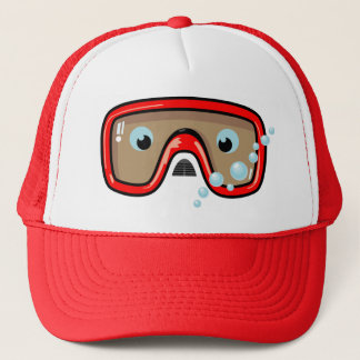 Red Goggles Trucker Hat