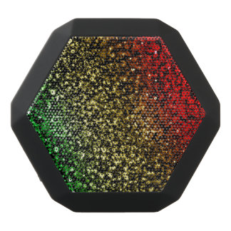 Red Gold and Green Glitter Bluetooth Speaker