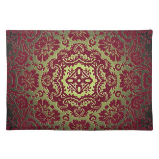 Red Gold and Green Ornate Design Placemat