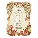 Red Gold and Lime Vintage Paisley Damask Wedding