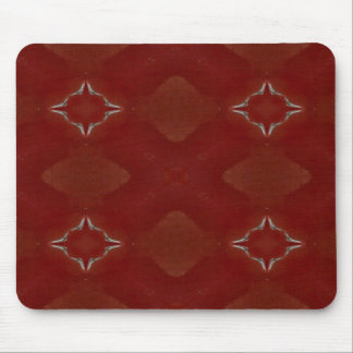 Red, Gold, and White Kaleidoscope 1 Mouse Mat