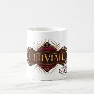 Red & Gold Art Deco Obliviate Spell Graphic Coffee Mug