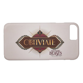 Red & Gold Art Deco Obliviate Spell Graphic iPhone 8/7 Case