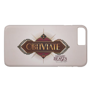 Red & Gold Art Deco Obliviate Spell Graphic iPhone 8 Plus/7 Plus Case