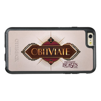 Red & Gold Art Deco Obliviate Spell Graphic OtterBox iPhone 6/6s Plus Case