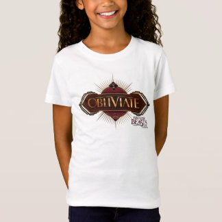Red & Gold Art Deco Obliviate Spell Graphic T-Shirt