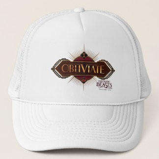 Red & Gold Art Deco Obliviate Spell Graphic Trucker Hat