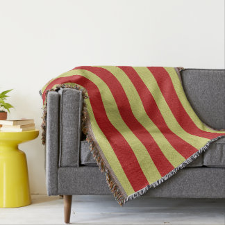 """""""Red & Gold Classic-Blanket""""-Revised Throw Blanket"""