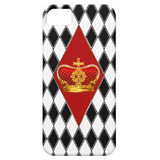 Red gold Crown & black and white Diamonds Barely There iPhone 5 Case