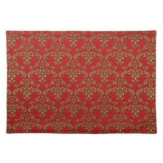 Red & Gold Damask Pattern Placemat