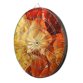 Red & Gold Dartboard
