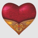 Red & Gold Decorative Sticker