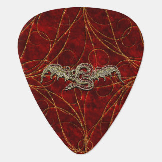 Red Gold Dragon Plectrum