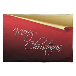 Red & Gold Elegant Christmas Place Mat