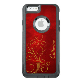 Red Gold Elegant Swirl OtterBox iPhone 6/6s Case
