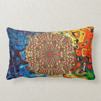 Red Gold Fall Nature Festival Lumbar Cushion